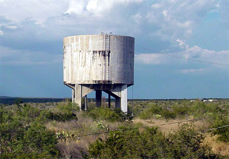 Railroad Water Tower; photograph by Kay