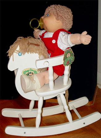 Cabbage patch kids rocking horse/chair w/ real wood nib   #472860815.