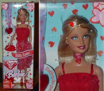 mattels valentine barbie from 2005